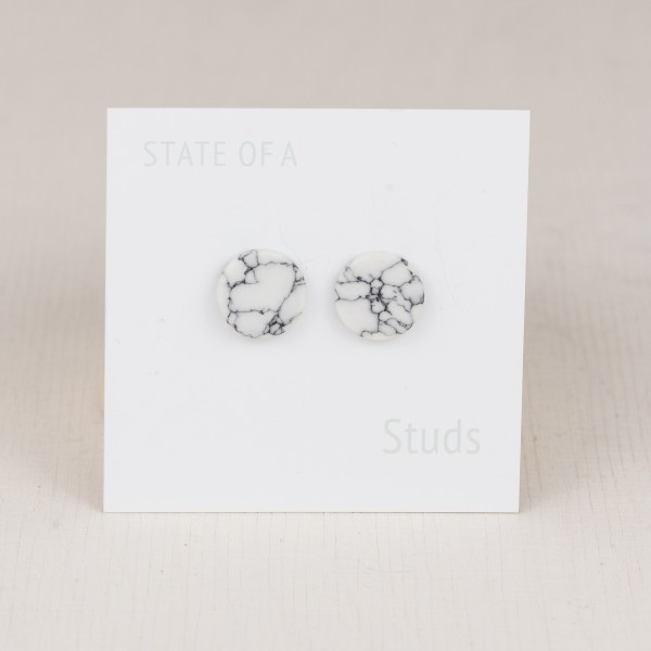 Studs Earring Marble
