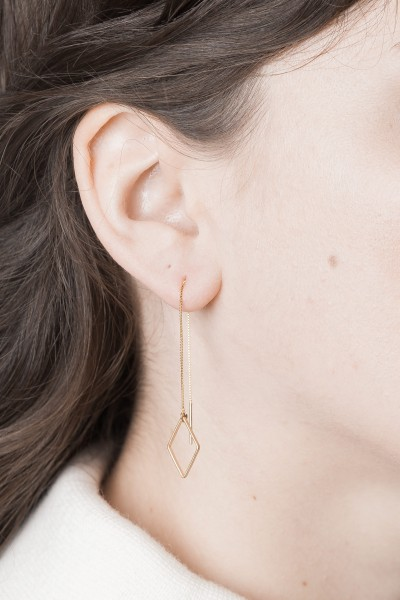 Thread Earring Lines Shapes