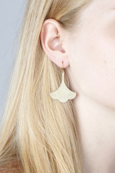Earring hanging Ginkgo leaf