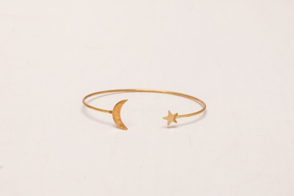 Cuff Bracelet Moon Crescent & Star