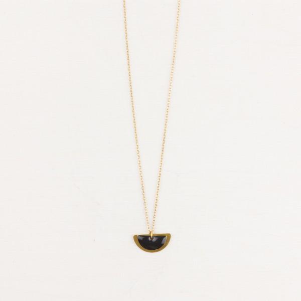 Necklace short Semi Circle layered Enamel