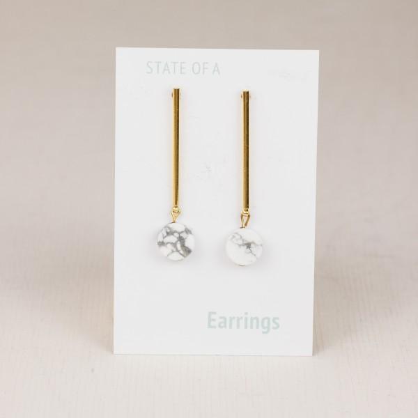 Earring Gemstone Bar Stud & Gem