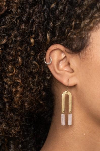 Earrings Gemstone bar U-Shape