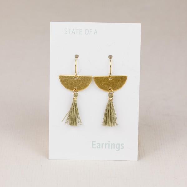 Earring Semi Circle & Tassel