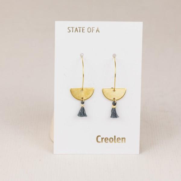 Earring Creole Half Circle Tassel