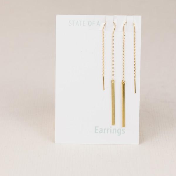 Thread Earring simple Bar
