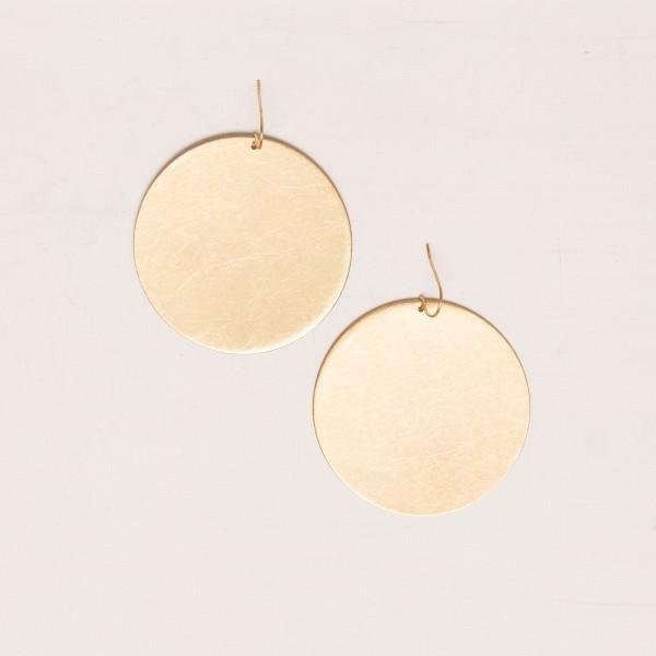 Earring Circle Brass XXL