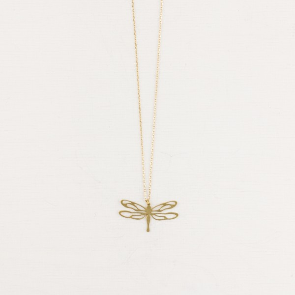 Necklace long Dragon-fly