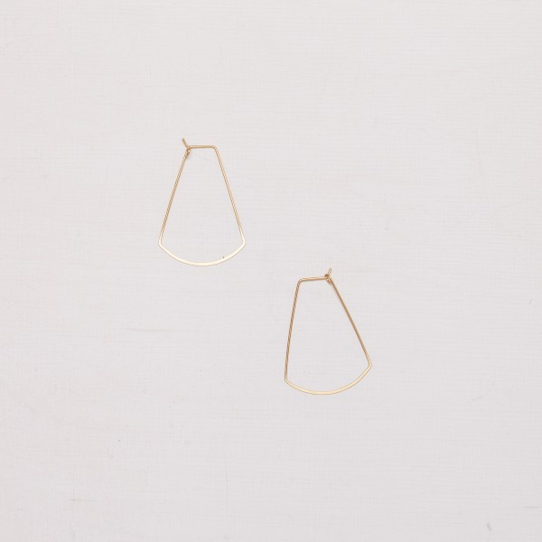 Earring Creole rounded trapeze