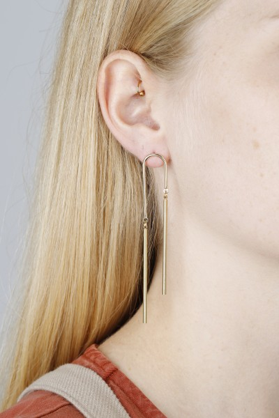 Earring Stud Bar U-Shape