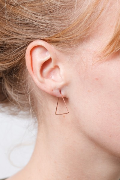 Earring Creole Triangle Small