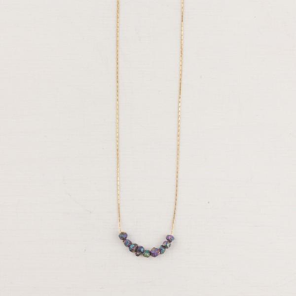 Necklace short Gem Rainbow Nuggets