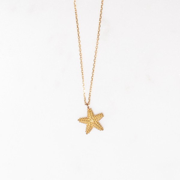 Necklace short starfish