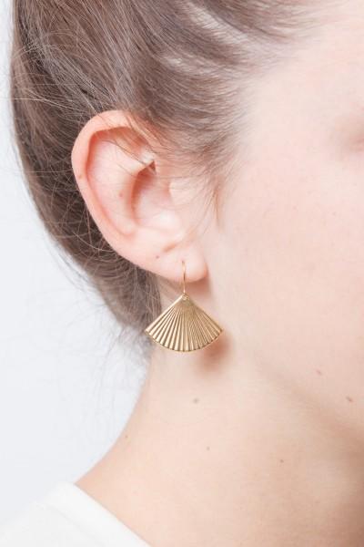 Earrings Circle structured Fan