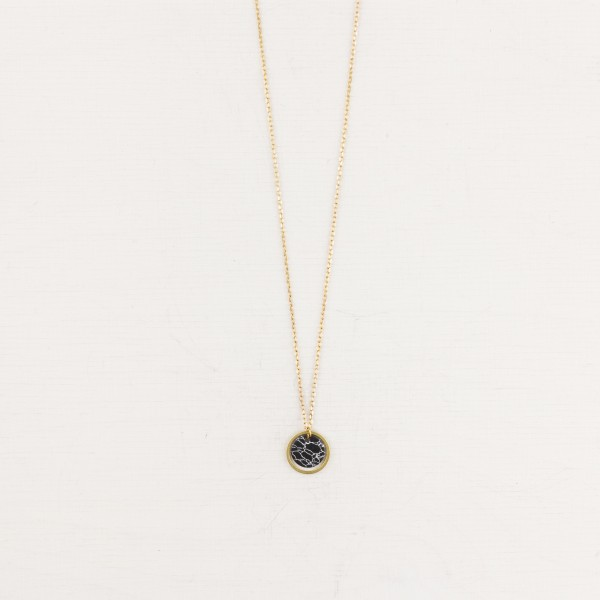 Necklace short Circle and Marble