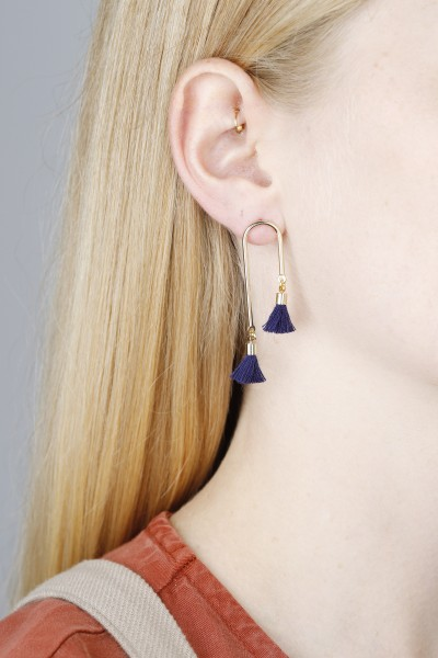 Earring Stud Bars with Tassels
