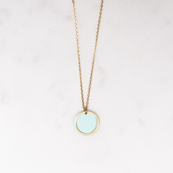 Necklace short Circle matte
