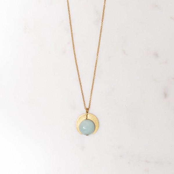 Necklace long Gem moon