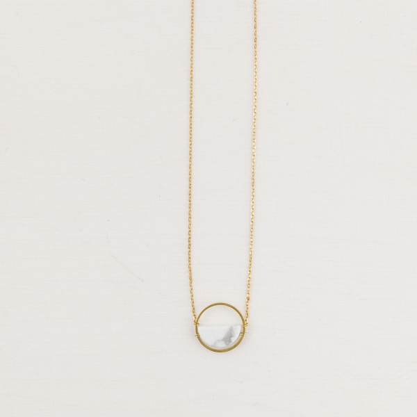 Necklace short Gem Half Circle