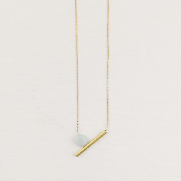 Necklace short Gem Tube asymmetrical