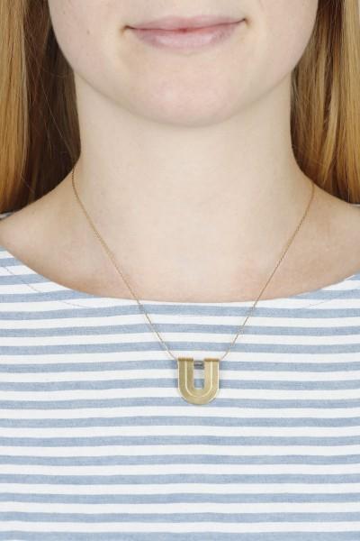 Necklace U-Shape structured