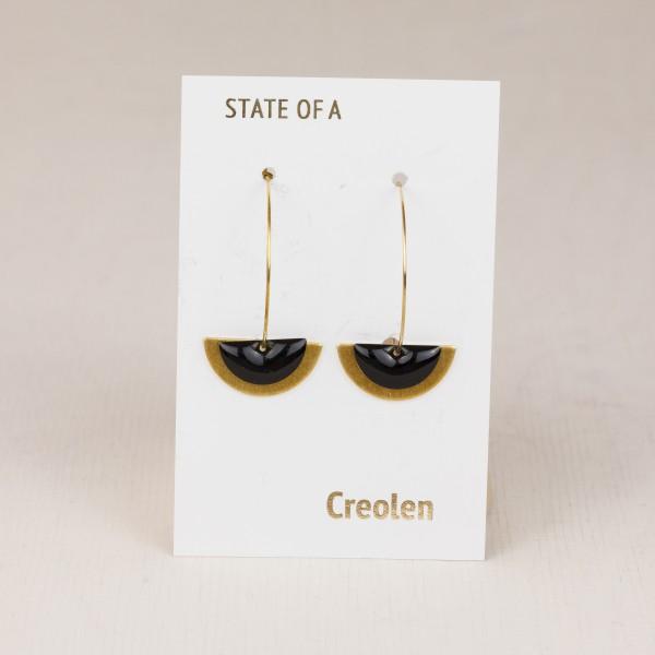 Earring Creole Semi Circle Enamel