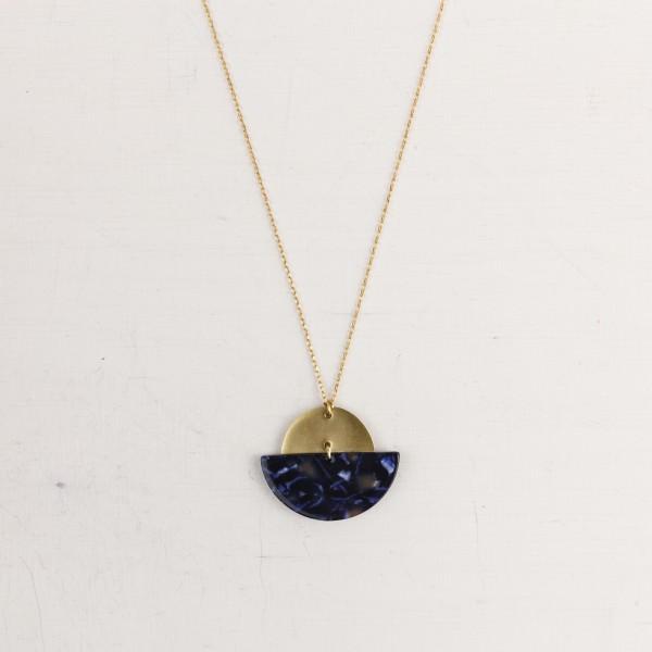 Necklace long Semi Circle