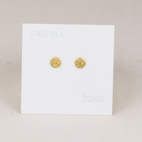 Studs simple circle hammered