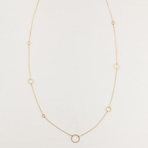 Necklace long geometric Shapes