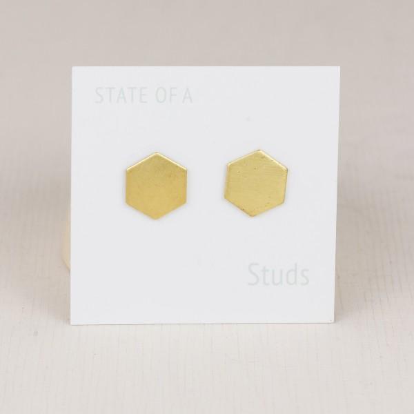Studs simple Hexagon