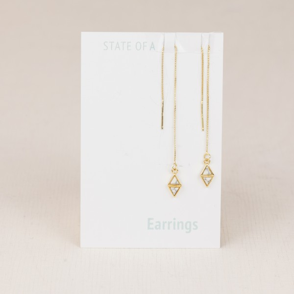Thread Earring Double Triangle