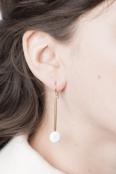 Earring Gemstone Bar & Gemstone