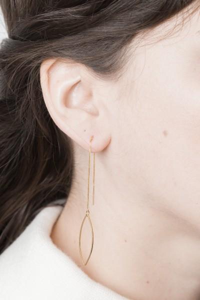 Thread Earring Lotus Leaf