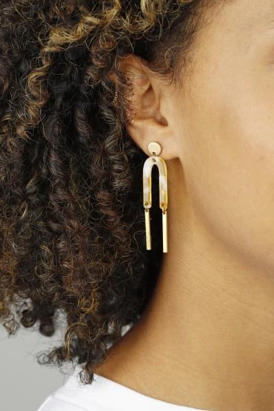 Earring Stud Acrylic U-Shape
