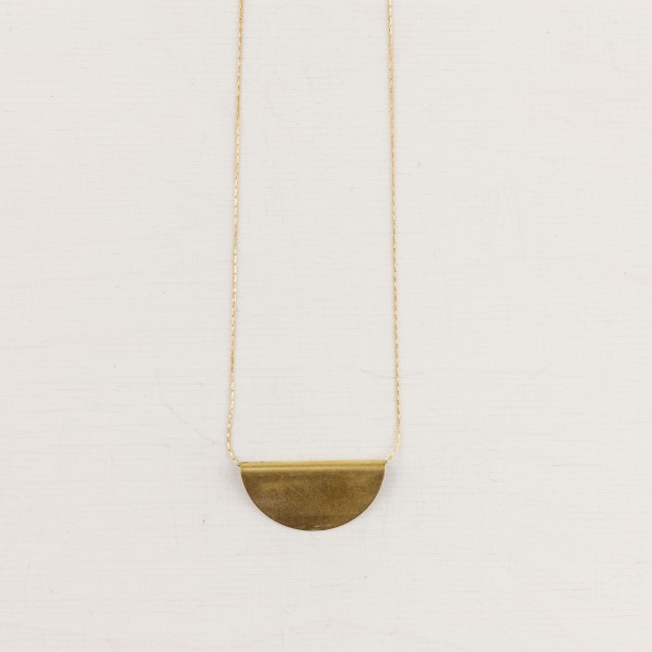 Necklace short folded Semi Circle