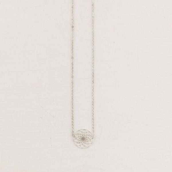 Necklace short lasered Mandala