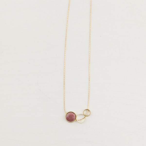 Necklace short Gem Open Circle
