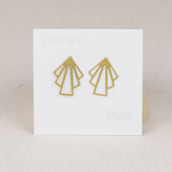 Studs filigree Fan lasered