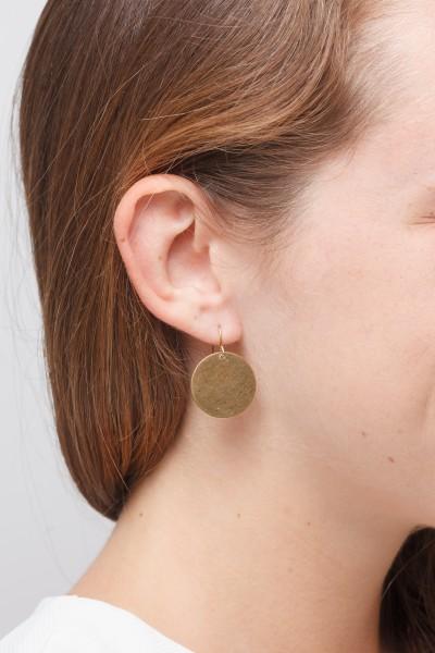 Earring Circle Brass M