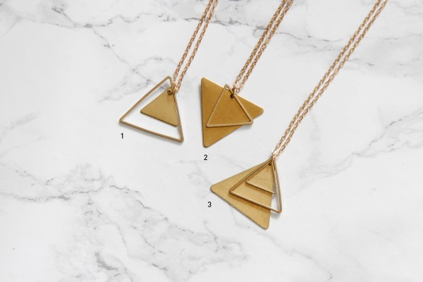 Necklace long Triangles