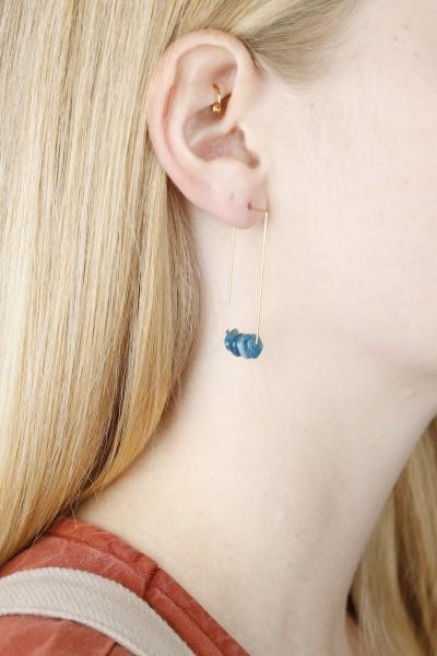 Earring hanging Gemstone Chip