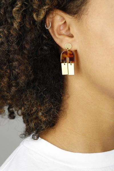 Earring Stud Acylic U-Shape