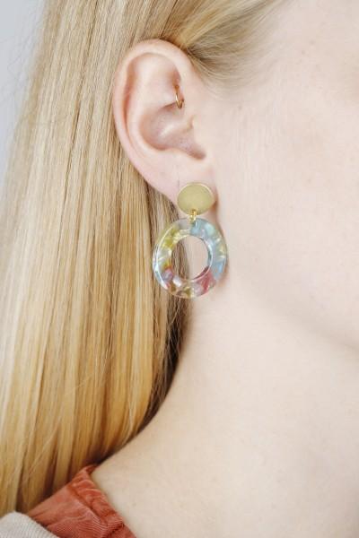Earring Acrylic Open Circle