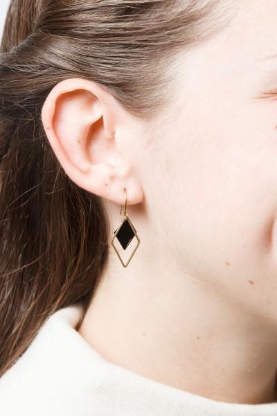 Earring Rhombus Enamel