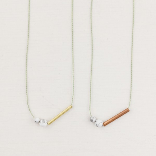 Necklace long Cotton Marble