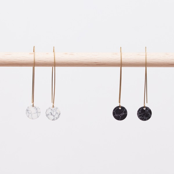 Earring Circle marble