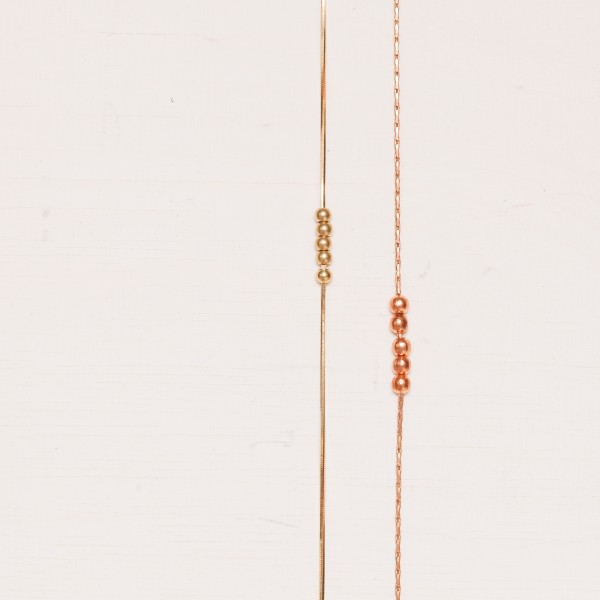 ANKLET Copper Brass Beads