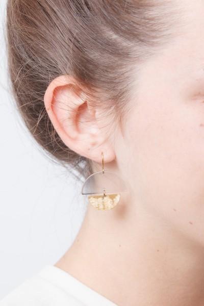 Earring semi Circle Acrylic