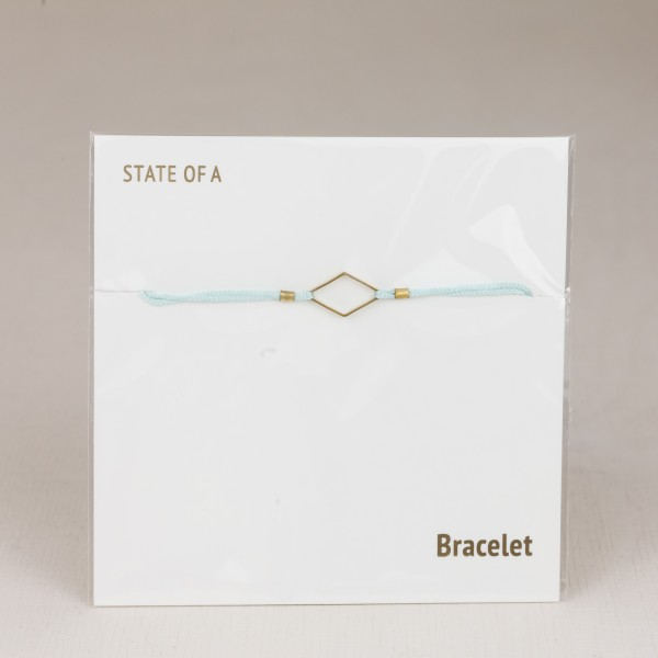 Bracelet Cotton Diamond Rhombus