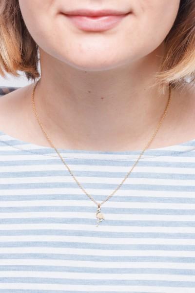 Necklace short Flamingo